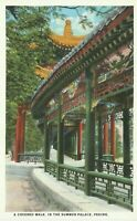 1920s Beijing Peking China A Covered Walk in the Summer Palace Postcard