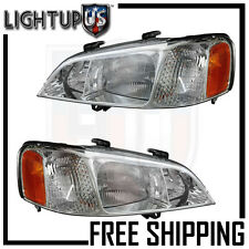 Headlights Headlamps Pair Left right set for 99-01 Acura TL