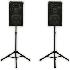 "Podium Pro E1200C Passive 3-Way Speakers 12"" Pair and Stands 1000 Watt for DJ PA"