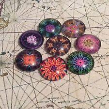 20mm Mandala Cabujones espiritual para la fabricación de joyas juego de 8