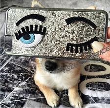 Luxury Chrome Brushed 3D Handmade Smile Eyes Hybrid Girl Case for iPhone 6 4.7''