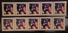 Scott 4395, 44c American Flag, 2 plate # strips of 5, MNH V1111 2009