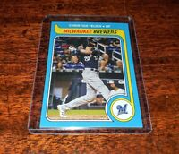 CHRISTIAN YELICH SP #TBT 2019 TOPPS THROWBACK THURSDAY #301 BREWERS! RARE!!!