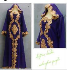 Moroccan Dubai abaya Kaftan hoodie green lace maxi dress plus size maternity Eid