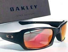 NEW* Oakley FIVES Squared Matte BLACK POLARIZED RUBY & Grey Lens Sunglass oo9238