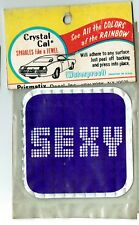 Vintage Prismatic sticker 70's Purple Sexy Free Love Retro Van Hot Rod