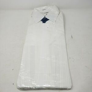 """Vintage 50's 60's Simpson Piccadilly Mens Size 14.5"""" Pleated Tuxedo Dress Shirt"""