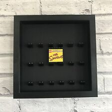 Mini Figures White Display Case Frame Black on Black Lego Brick The Simpsons