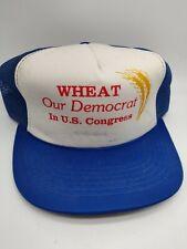 Vintage Snapback Trucker Farmer Hat Wheat Our Democrat In Congress!