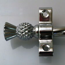 """CHROME STAIR RODS ROPE THISTLE FINIAL 28.5"""" SET OF 13  (R03ROT)"""