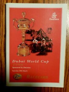 1998 DUBAI WORLD CUP HORSE RACING PROGRAM WON BY KY. DERBY WINNER SILVER CHARM