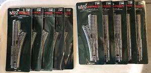 Kato Unitrack HO 2-841 2-841 Right & Left Hand Turnout Switch Manual Lot #4 Set