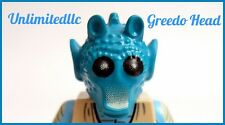 LEGO Minifig Parts Dk Turquoise Head Greedo Qty brand new mint