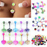 Navel Belly Button Rings Assorted Style Body Piercing Jewelry Dangle Bar Barbell