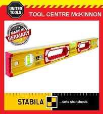 STABILA 600mm / 2ft 196-2/60 BOX FRAME RIBBED 3-VIAL SPIRIT LEVEL + HAND HOLD
