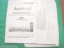 Manuale Lettore DVD Amstrad DV100 DV 100 in italiano di istruzioni guida pratica