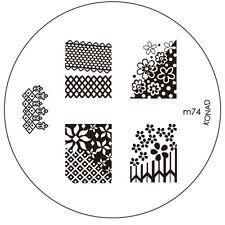 Konad stamping galería de símbolos m74 plate Nails Nail Art Stamp