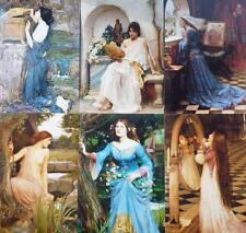"Artiste préraphaélite 6 Imprime J. W. Waterhouse 7 ""x 5"" Ophelia Pandora flore"