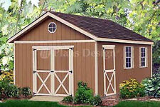 Outdoor Structure 20 x 12 Yard Storage Building / Gable Shed Plans #22012