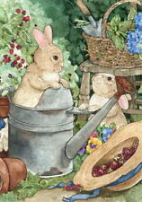 New listing New Large Toland House Flag Bunny Rabbit Mischief In The Garden Cute 28 X 40