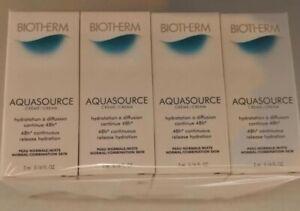 12 x Biotherm Aquasource Cream 5ml each For Normal/Combi Skin 60ml total