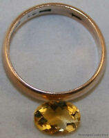NATURAL YELLOW CITRINE LOOSE GEMSTONE 6X8 FACETED OVAL CUT 1.15CT GEM CI8D