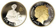 Caraibi East Carribbean States 10 Dollars 2006 Elizabeth II Silver Proof #524