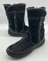 Clarks Winter Black Suede Leather Boot 63058 Women's Sz 11