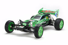 Tamiya 47371 Neo Fighter MET GREEN RC Kit - DEAL BUNDLE with STEERWHEEL Radio