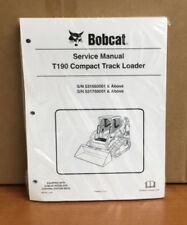 Bobcat T190 Track Loader Service Manual Shop Repair Book 4 Part # 6987043