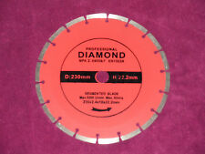 "230 MM 9"" DIAMOND SAW CUTTING WHEEL BLADE DISK, ANGLE GRINDER"
