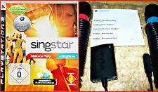 Ps3 SingStar mallorca fiesta + 2 Sony ps2/ps3 micrófonos + USB * * karaoke diversión -