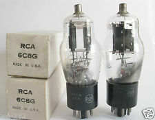 2 matched RCA 6C8G tubes - TV7B tested @ 48/48, 49/50, min:25/25