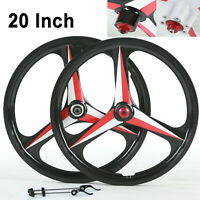 "20"" 3 Spoke Bike Wheels Bicycle Wheelset Integrated Magnesium Alloy Disc Brake"