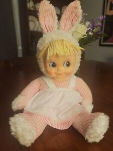 Vintage Gund Stuffed Plush Toy Rubber Face Bunny Rabbit Doll