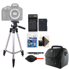 Tall Tripod + Replacement EN-EL14 Battery + Screen Protector + Cleaning Kit