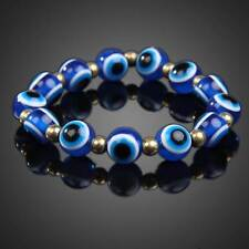 Fashion Blue Evil Eye Lampwork Glass Crystal Stretchy Bracelet Chain Jewelry