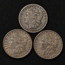 Morgan Silver Dollar 3-Coin Lot - 1882, 1883, 1884 [5]