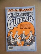 1927 Kamiki At-A-Glance Illustrated Self Instructor for Guitar Book Vintage VG