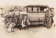 ANTIQUE HUNTING REPRO 8 x 10 PHOTOGRAPH COWBOYS WINCHESTERS REMINGTON GUNS QUAIL