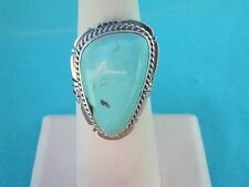 NAVAJO NATIVE AMERICAN PILOT MOUNTAIN TURQUOISE RING SIZE 8 STERLING