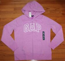 NWT Womens GAP Logo Front Zipper Hooded Sweatshirt Hoodie CHOICE of 12 COLOR *F6