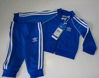 Adidas Originals Superstar Blue Full Tracksuit Baby Size 0-3 Months New