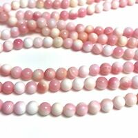 "15.5""  - Natural Pink Queen Conch Shell 5mm Round Beads HQ, NEW DIY Design Rare"