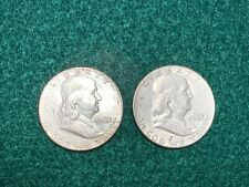 $1 Face Value (2 coins) of Franklin Half Dollars 90% Silver Great Value
