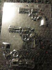 REVOLVER GUN PIECES  CANDY CHOCOLATE MOLDS guns smith & wesson