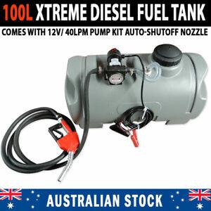 NEW XTREME 100L Diesel Fuel Pod Tank 12V/40lpm Pump Kit Auto Shut Off Nozzle