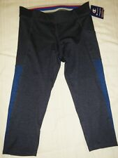 CHAMPION  CROP LENGTH LEGGINGS   M3262 RU8,  SIZE L, NAVY/BLUE  NWT,