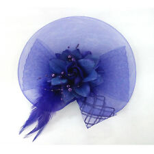 Lady Womens Handmade Beauty Hat Fascinator Hair Accessory Party Wedding Feather