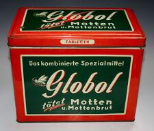 Blechdose Globol tötet Motten u. Mottenbrut um 1955